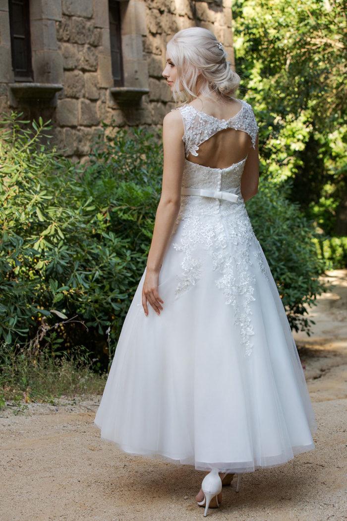 Hochzeitskleid Ann Angelex 1954 hinten