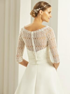 Bianco Evento Brautkleid von hinten