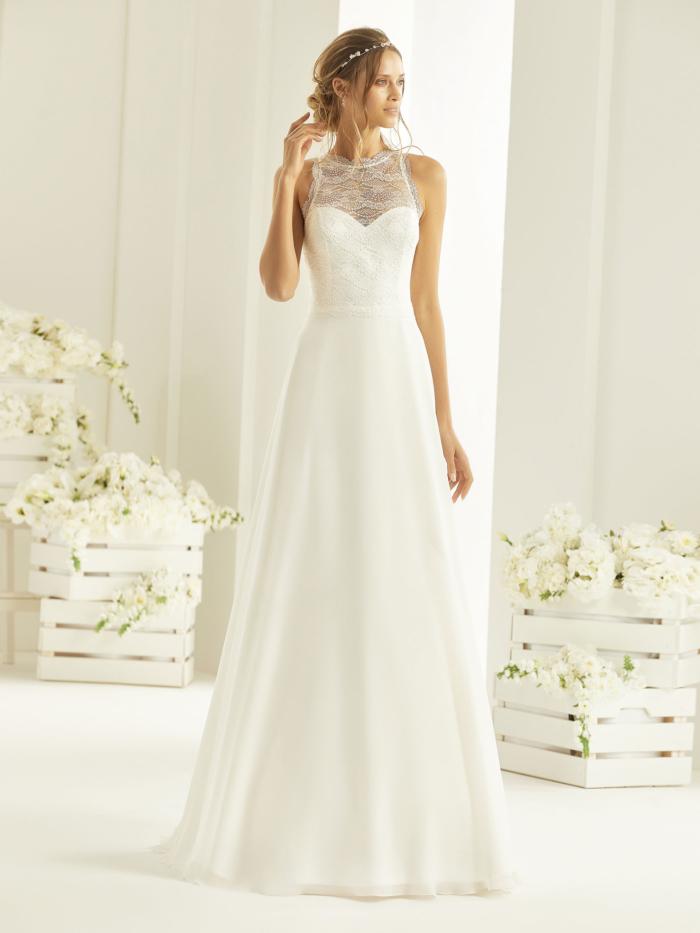 Nala Bianco Evento Hochzeitskleid von vorne