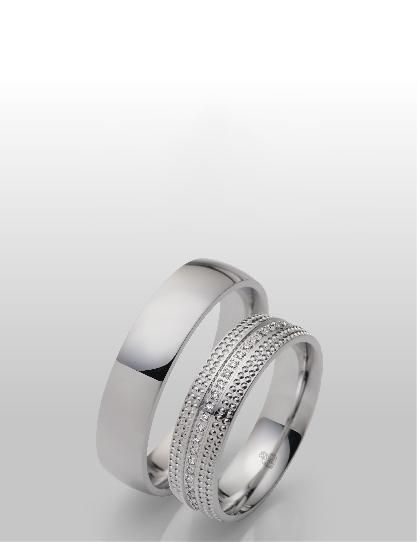 Einzigartige Eheringe in Silber
